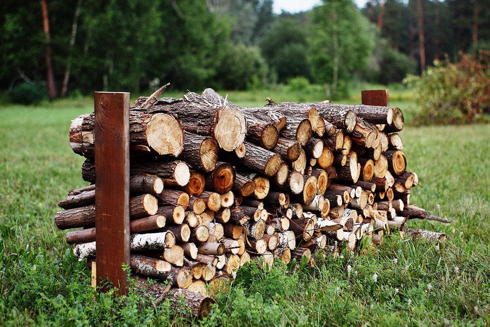 Поленница для дров своими руками для дачи
