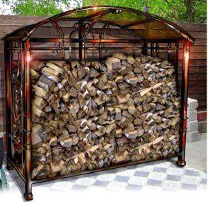 Металлический навес для дров