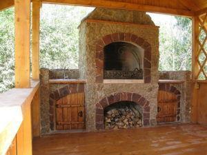 защита садового камина