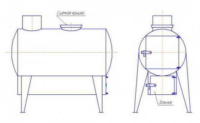 Теплообменник в печь из нержавейки своими руками 2