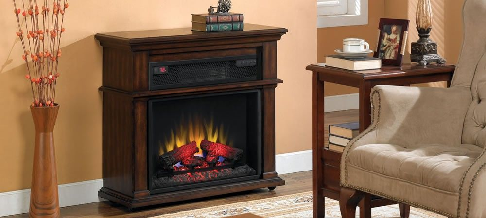 Duraflame Rolling Mantel Fireplace With Infrared Quartz