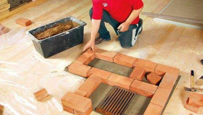 Фундамент с решеткой для пепла