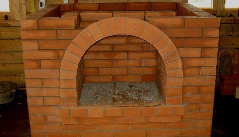 Кладка арки камина