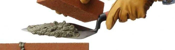 Кладка кирпича на смесь для камина