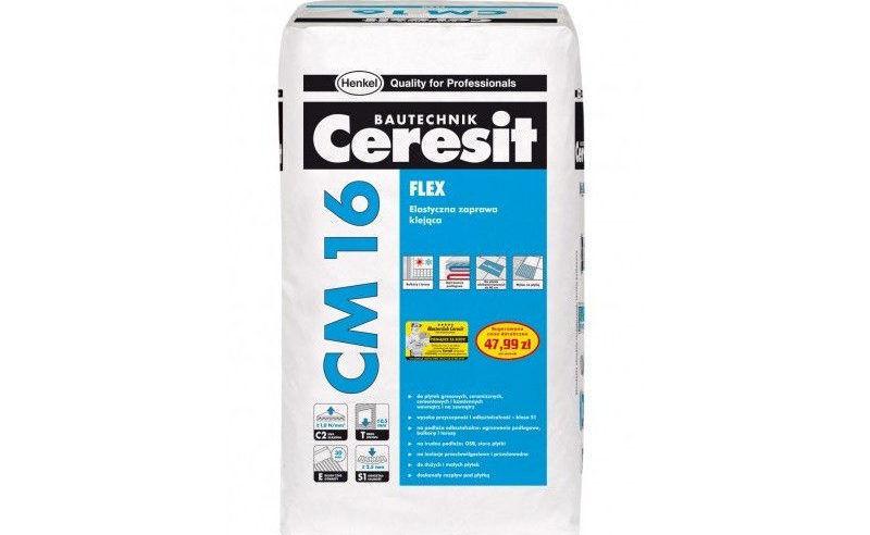Клей для плитки Ceresit CM 16 Flex 25 кг