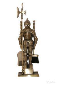 Набор для камина Рыцарь из латуни