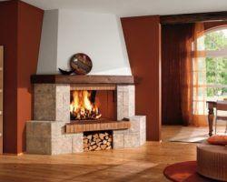 Грамотный выбор позволяет устроить камин не только в частном доме, но и в квартире