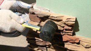 Облицовка гипсокартонной конструкции искуственным камнем