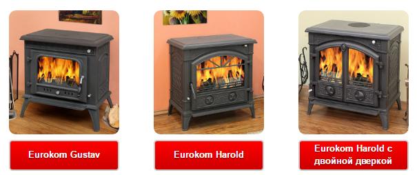Отопительные печи Eurokom