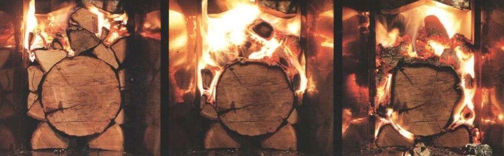 Растопка печи камина. Этапы прогорания дров в топке