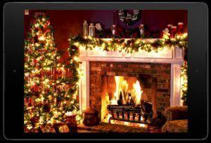 Рождественский видео камин