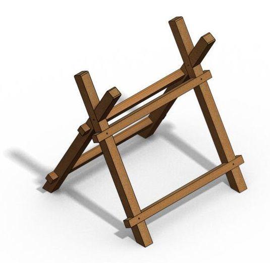 Как сделать козёл для распилки дров своими руками 685