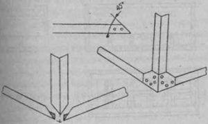 Схема крепежа угла каркаса