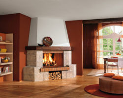 Uglovye kaminy v dizajne doma