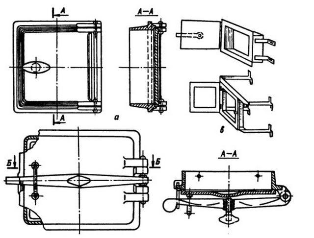 Схема установки печной двери