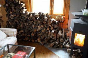 Сухие дрова для печи