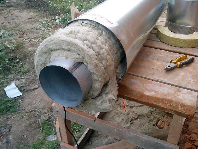 Дымоход из стальной трубы своими руками