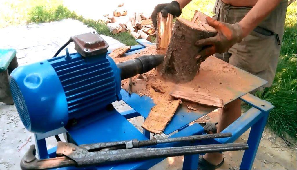 Гидравлический колун дров своими руками 935