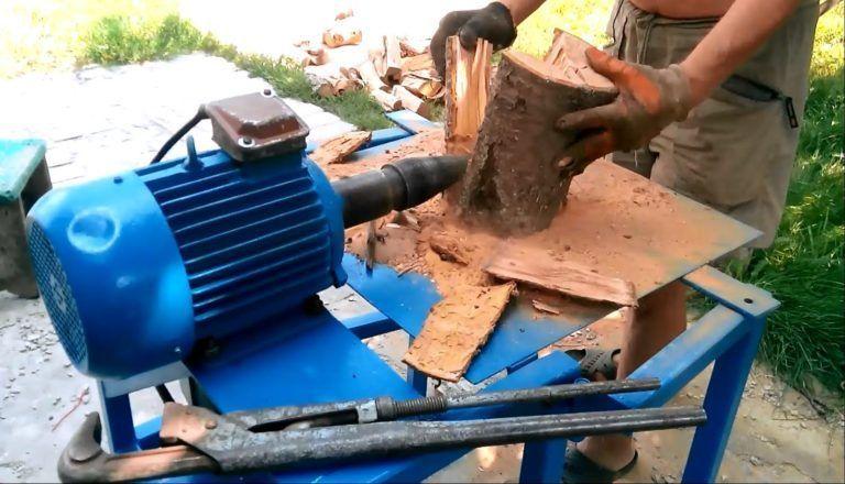 Электрический колун для дров своими руками