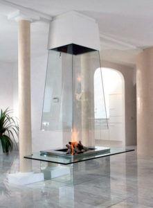 Камин в стиле «Hi Tech» из термического стекла