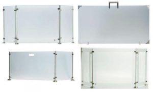 Экраны для камина из стекла