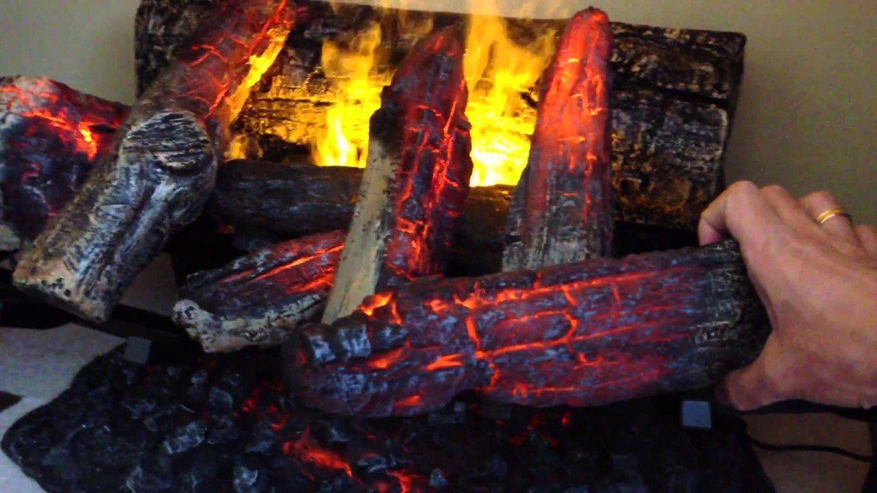 Искуственные дрова в электрокамине