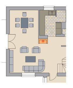 Как сделать камин центром дома