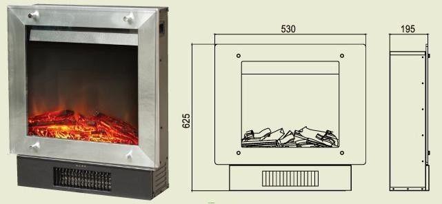 Камин электрический компактный и простой в установке