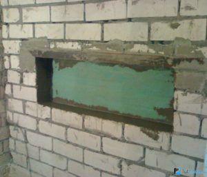 Ниша для электрокамина в стене