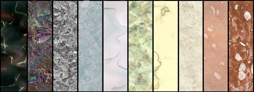 Разнообразие текстур мрамора