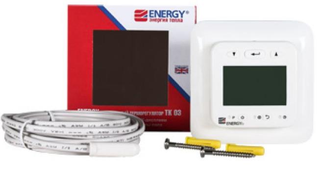 Электронный терморегулятор Energy TK03 с жк дисплеем для теплого пола