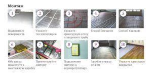 Этапы монтажа электрического пола