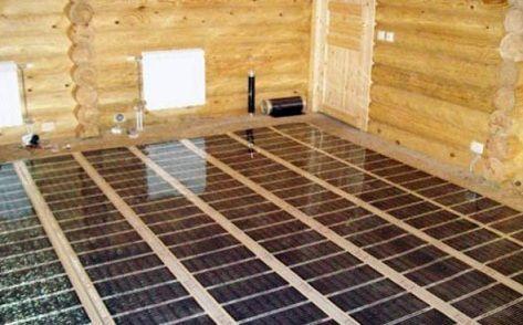 Инфракрасный пленочный теплый пол в деревянном доме