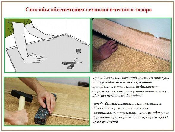 Как правильно укладывается пробковая подложка под ламинат