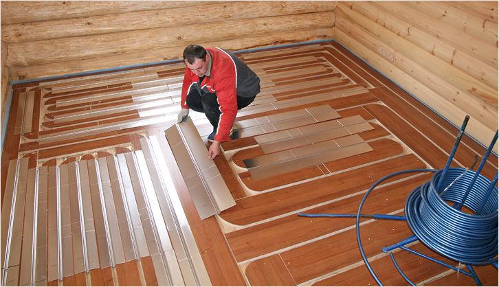 Как сделать теплый пол на деревянном полу