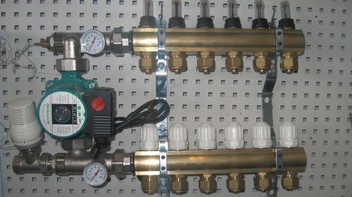Коллектор для водяного теплого пола