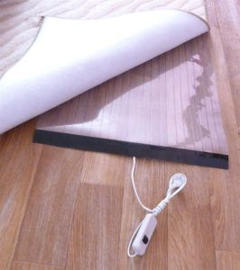 Мобильный инфракрасный теплый пол под ковёр