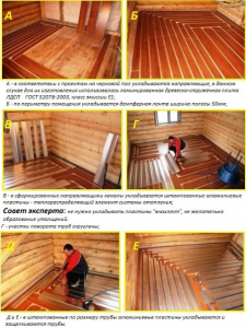 Монтаж деревянного основания для теплого пола