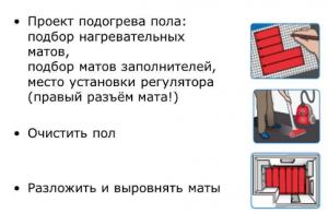 Очень простой монтаж нагревательных матов