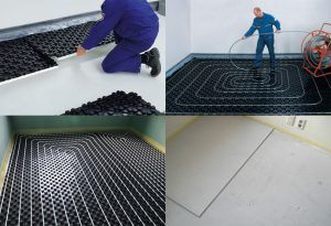 Процесс монтажа водяного теплого пола на матах из пенополистирола