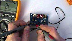 Проверка терморегулятора теплого пола вольтметром