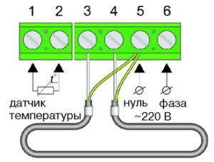 Схема подключения одножильного кабеля для теплого пола Теплолюкс