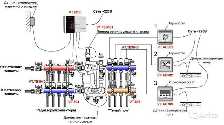 Схема подключения водяного тёплого пола фото 71