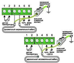 Схема подключения терморегулятора для теплого пола