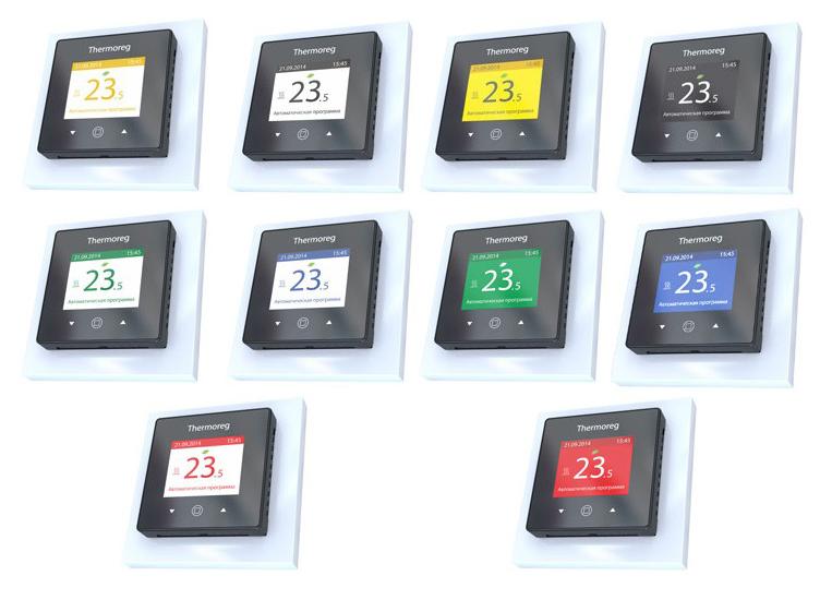 Цветовые схемы терморегулятора для теплого пола Thermoreg TI 970