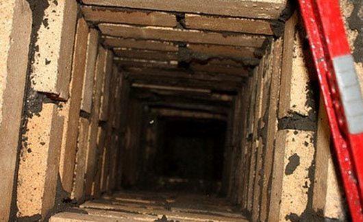 Дымоход из термостойкого кирпича вид изнутри