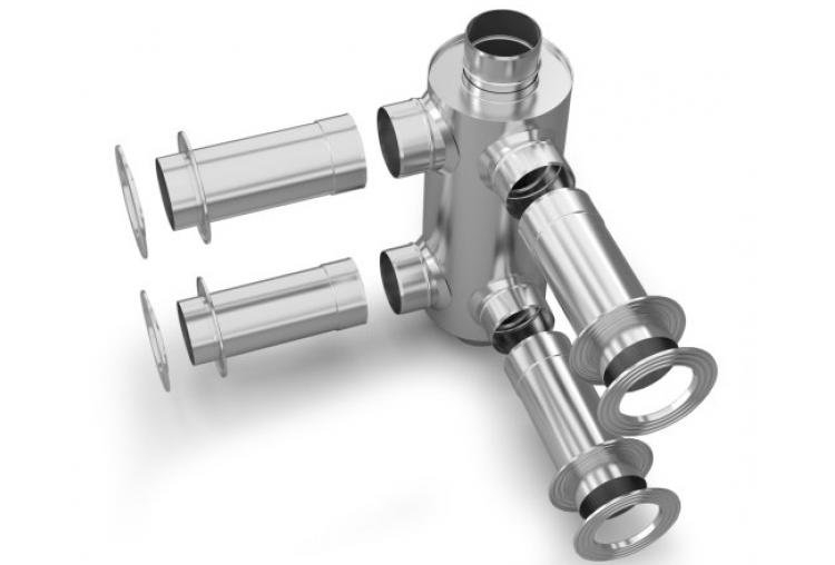 Дымоход-конвектор - для смежных помещений