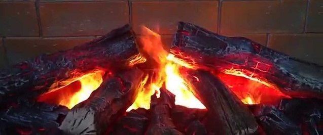 Эффект живого огня в электрокамине