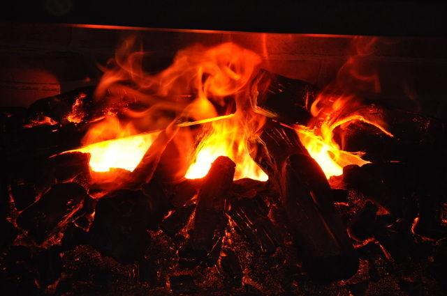 Пламя в электроочаге 3D