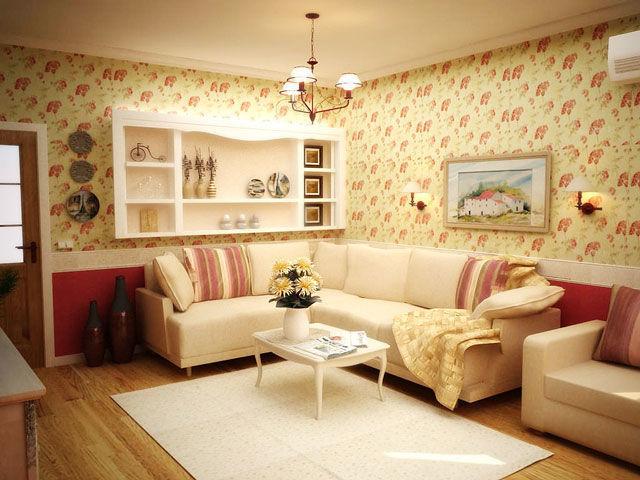 Оформление гостиной в стиле Прованс